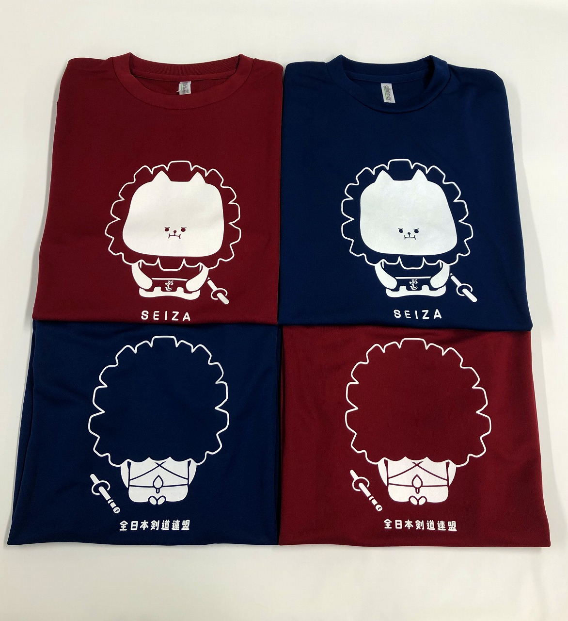 bushishi T-shirt (Blue・Burgundy)